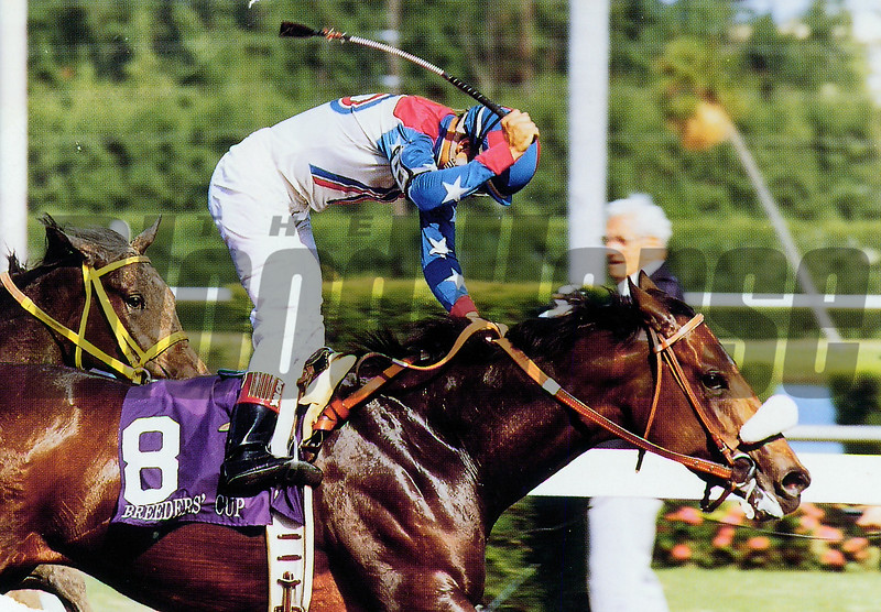 Eliza wins the 1992 Breeders' Cup Juvenile Fillies<br /> Skip Dickstein