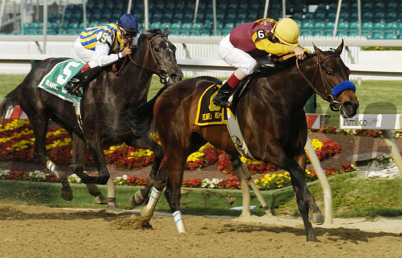 Yearly Report winning the 2004 Black Eyed Susan Stakes<br /> <br /> Photo by Skip Dickstein