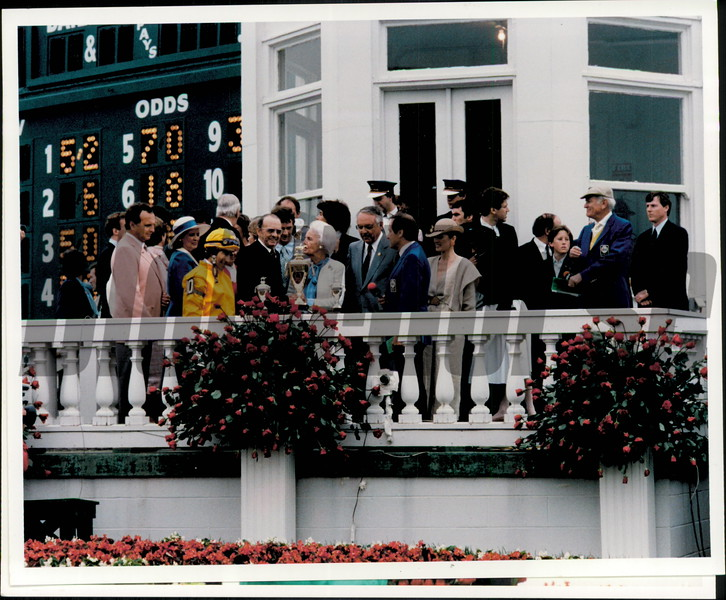 Kentucky Derby 1984 trophy presentation