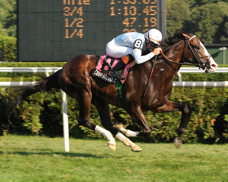 Courageous Cat wins the 2009 Hall of Fame Stakes.<br /> Coglianese Photos