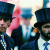 Henry Cecil and Sheikh Mohammed on August 25, 1994 at Royal Ascot
