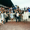 Thunder Gulch wins the 1995 Belmont Stakes<br /> Photo by: Skip Dickstein