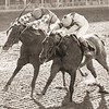 Bold 'N Determined wins The Maskette Handicap over Genuine Risk on 9/10/1980<br /> Bob Coglianese Photo