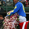 CAPTION: John Velazquez<br /> Ashado with John Velazquez up wins the Kentucky Oaks (gr. I).<br /> Kentucky Derby contenders at Churchill on April 30, 2004.<br /> OaksDay4/30Origs5<br /> image119<br /> Photo by Anne M. Eberhardt