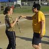 STAN HUDY - SHUDY@DIGITALFIRSTMEDIA.COM<br /> Classie Lassies Boom 10U Coach Katy Lucey handing out medals