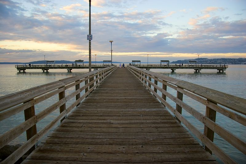 This image was taken for a photo class that I'm taking.  This week we're studying line.  Notice how your eye follows the path of the dock, that's what I'm going for here.<br /> <br /> This photo was deemed one of the class photos of the week!