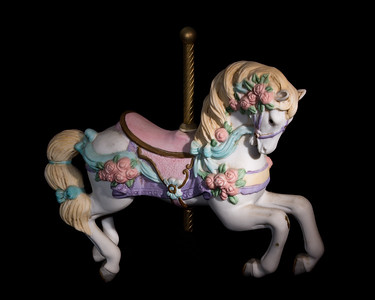 Music box carousel horse (color)