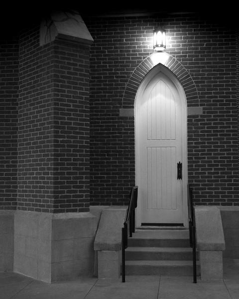 Side Door of St. John's Lutheran Church in Old Town Orange