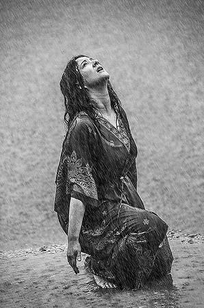 """Self Portrait """"Soul Cleansing Under The Rain"""""""
