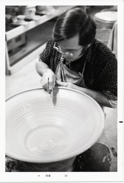 Wally throwing a big bowl - 1973