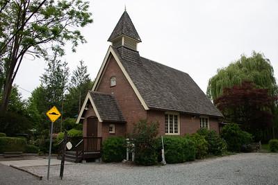 Village church - notice bricks.