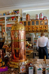 Combination of many vintage products in the old, pristine space