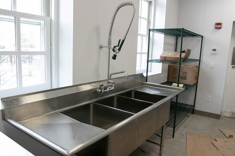 Clear Path for Veterans is renovating a building on Devens. This is the sinks in their new kitchen. SENTINEL & ENTERPRISE/JOHN LOVE