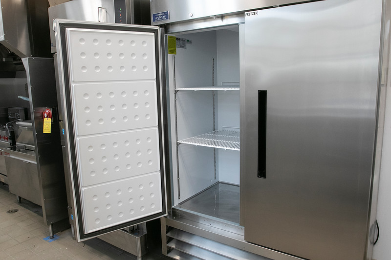 Clear Path for Veterans is renovating a building on Devens. This is their fridge in their new kitchen. SENTINEL & ENTERPRISE/JOHN LOVE
