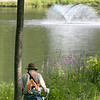 There is always work to be done at the parks in the City of Leominster. some of that work is done by volunteers. On Friday morning one volunteer and two members of the Leominster Trail Stewards cleared some vegetation near the playground at Barrett Park to help everyone see the pond that was not visible due to the over growth. Using a weed wacker, member of the Leominster Trail Stewards, Art O'Leary works on cutting down the over growth. SENTINEL & ENTERPRISE/JOHN LOVE