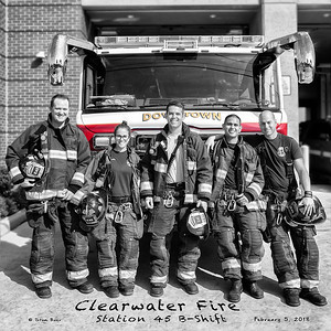 Clearwater Florida Fire Station 45 on B-Shift