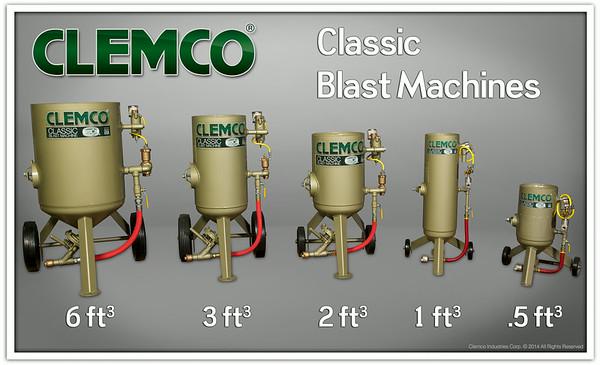 Clemco Classic Blast Machine Family