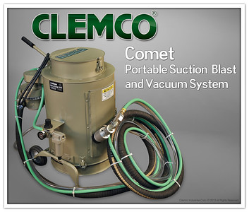 Comet Portable Suction Blast and Vacuum System Stock No. 12542 (120v) Stock No. 12547 (240v)