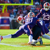 Jadar Johnson (18) for Clemson records a tackle Saturday in the Tigers' 54-0 victory over Syracuse.