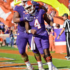 Deshaun Watson (4) for Clemson celebrates with Christian Wilkinson after a 1-yard touchdown run by Watson against Syracuse Saturday in Death Valley.