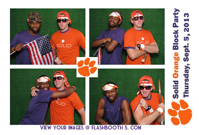 Clemson Block Party Photo Booth