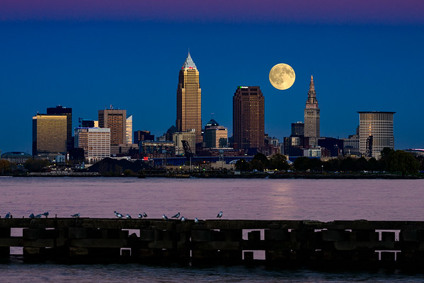 Grand Moon Over Cleveland