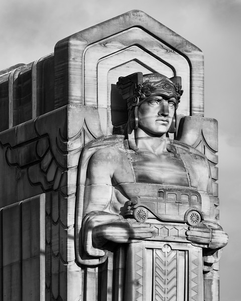 Guardian of Transportation #1 Lorain Carnegie Bridge Ohio City Cleveland