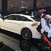 Cleveland Auto Show attendant does final prep work on a 2019 Toyota Avalon. David S. Glasier, The News-Herald
