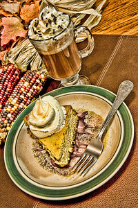 "Creative Challenge 2: Thanksgiving: ""Thanksgiving Delight""  What I did on Thanksgiving, lots of dessert!  And for all of you moose lovers, yes the cheesecake is sitting on a moose plate, and was eaten with a moose fork!"
