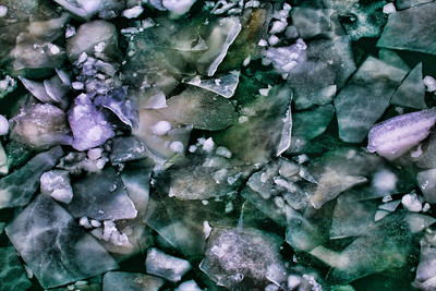 Lake Erie ice that's been photoshopped.