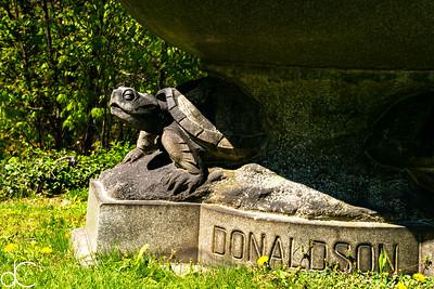 Donaldson Family Monument, April 2017.