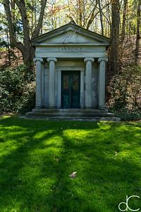 Lawrence Mausoleum, April 2017.
