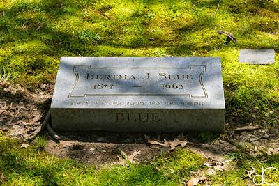 Bertha J. Blue, April 2017.