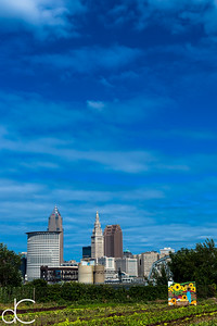 Downtown Cleveland From the Ohio City Farm, September 2015.