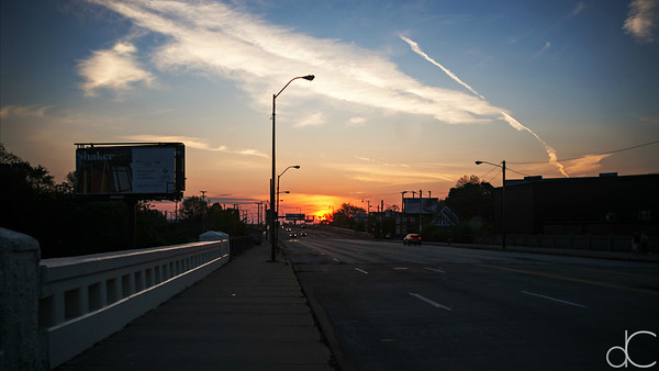 Lorain Avenue Sunrise, Cleveland, May 2019.