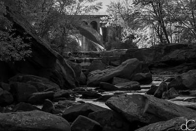 Berea Falls, Rocky River Reservation, October 2015.