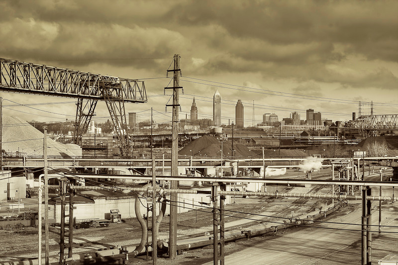 """I edited this photo using the Duotone option in Photoshop.  I wanted a """"blue collar"""" feel.  My neighbor told me it looked like a picture from the Depression.   I guess that would be appropriate today."""