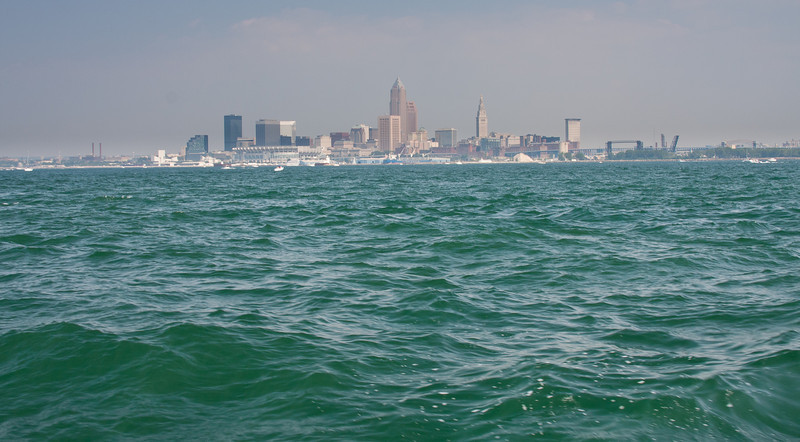 A view of Cleveland from Lake Erie.
