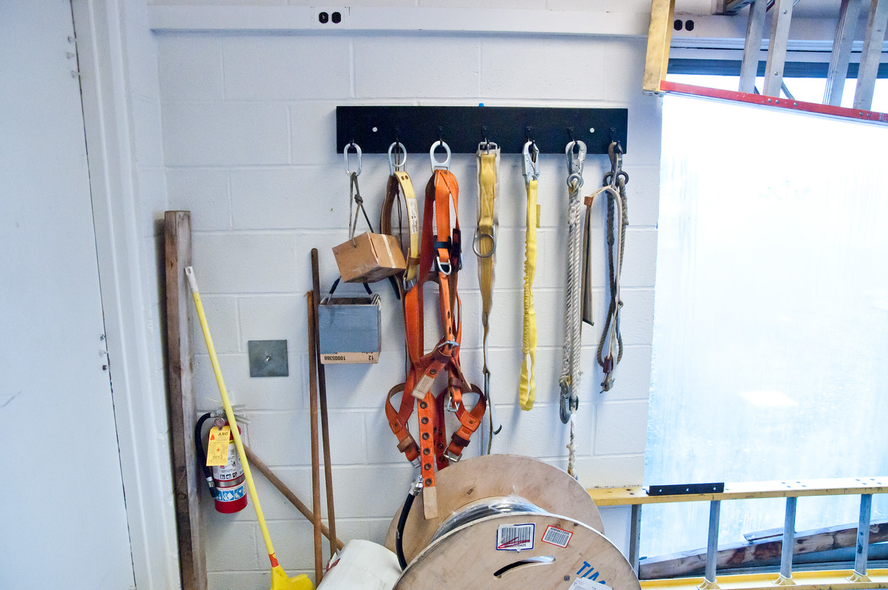 Outdated and unsafe climbing equipment.