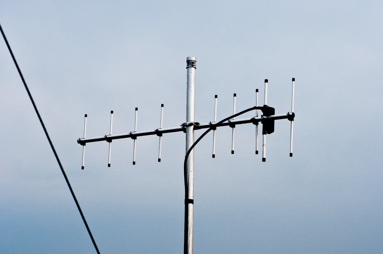 UHF repeater link antenna erected summer 2012.