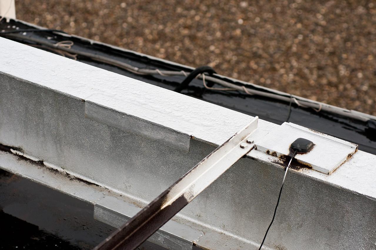 Note corrosion on unpainted steel.