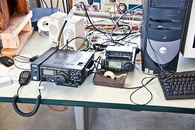 A student's radios in the shack.