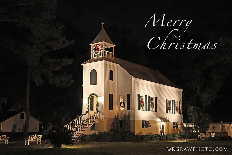 Christmas time in St. Marys, GA.<br /> Presbyterian Church.