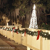 Christmas in downtown St. Marys, GA. The is the Spencer House Bed & Breakfast.