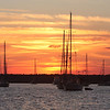Sunset on Sailboats 7308