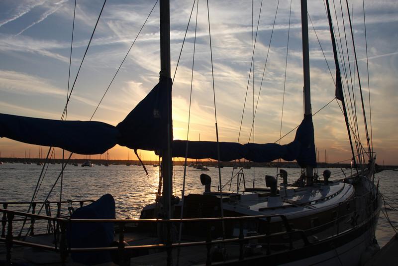 Sunset on Sailboats 7266 128