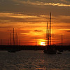 Sunset on Sailboats 7295