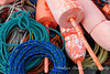 Buoys and Ropes for Lobster fishing in Maine