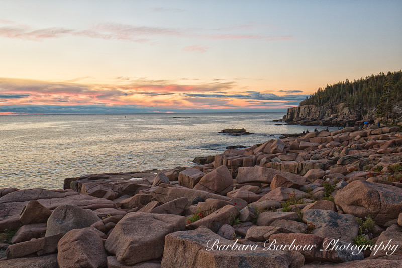 View towards Otter Point in Acadia NationalPark at Sunrise