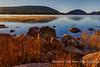 Sunrise over pond in Maine
